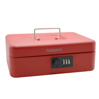 Sterling Keyless Cash Box With Combination Lock - Red