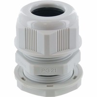 Zexum PG21 IP68 Nylon Cable Gland with Locknut