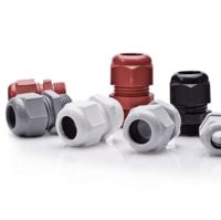 Zexum M16 IP68 Nylon Cable Gland with Locknut