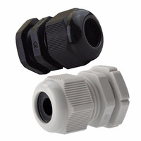 Zexum M12 IP68 3-6mm Compression Cable Gland with Locknut