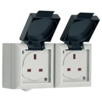 SMJ IP54 13A Outdoor Power Double UK Socket