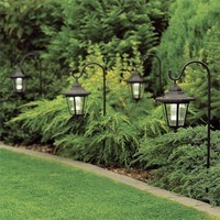 GardenKraft Set of 2 Solar Powered Shepherds Lantern Ground Spike