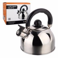 Milestone 2L Stainless Steel Whistling Campfire Teapot Kettle