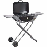 Crusader Portable Propane/Butane Folding Gas Barbecue With Wheels & Handle