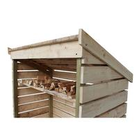 Hadley Slatted Airing Wooden Kindling & Log Seasoning Store