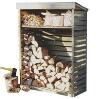Kingfisher Slatted Airing Wooden Kindling & Log Store