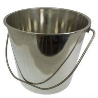 Toolzone 12 Litre Heavy Duty Stainless Steel Bucket