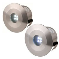 KnightsBridge IP44 Stainless Steel LED Decking Kit - 4 Pack