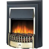 Dimplex Cheriton Freestanding Electric Fire - Black & Brass