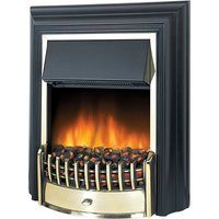 Dimplex Cheriton Freestanding Electric Fire - Black & Brass (2019A Model)