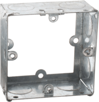 KnightsBridge 1G 35mm Extension Galvanised Back Box