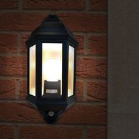 Eterna Black Half Lantern with 120 PIR