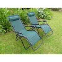 Vinsani Textoline Reclining Chair - Green - 2 Pack
