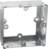 Zexum 1G 35mm Galvanised Extension Back Box
