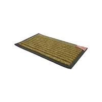 Kingfisher Stripped Coir Rubber Rectangular Door Mat