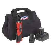 Sealey 12V Ratchet Wrench Drive Kit with 2 Batteries