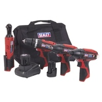 Sealey 4 x 12V Cordless Tool Combo Kit