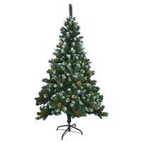 Benross Artificial Green Christmas Tree with Snow Tips & Cones