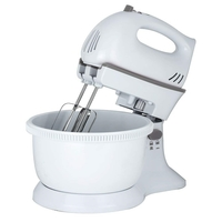 Status 5 Speed Turbo Plastic Hand Mixer & Bowl - White