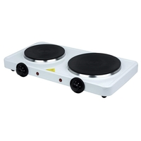 Status Double Stainless Steel Hot Plate - White