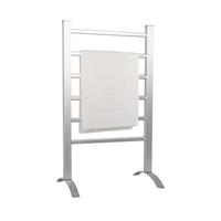 Status Portable Aluminium 6 Bar Heated Towel Rail - Silver