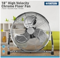 Status 18 Inch Chrome Floor Fan