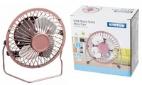"Status 4"" Mini USB Fan - Rose Gold"
