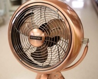 "Status 8"" Copper Tripod Fan"