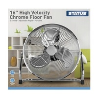 "Status 16"" Chrome Floor Fan"