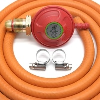 Crusader Red Propane Gas Regulator Kit