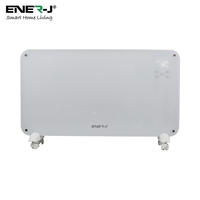 Ener-J WiFi Smart Heater 2000W, White Tempered Glass