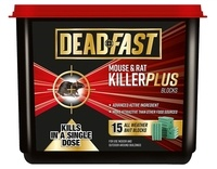 Deadfast Mouse and Rat Killer Plus Poison, 15 Block