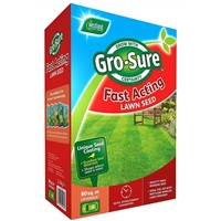 Gro-Sure Fast Acting Lawn Seed - 80m² Box