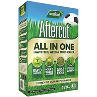 Westland Aftercut All-in- All-in-One Lawn Feed, Weed and Moss Killer, 170 sq m, 5.44 kg