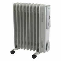 Status Oil Filled Radiator 9 Fin 2000 Watt- Grey