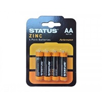 Status AA Zinc Batteries - 4 Pack