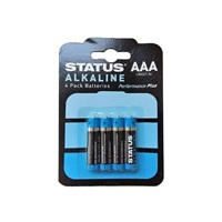 Status AAA Alkaline Batteries - 4 Pack