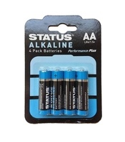 Status AA Alkaline Batteries - 4 Pack