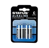 Status C Cell Alkaline Batteries - 2 Pack