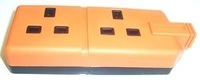 Pro-Elec 2 Gang Orange Trailing Socket