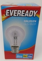 Eveready Eco Halogen GLS 46w clear BC Bulb