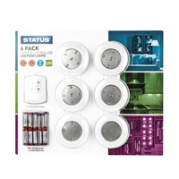 Status 6 Multi-Purpose LED Lights with Remote
