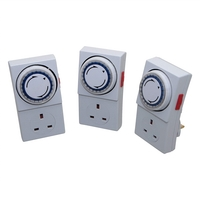 SMJ 24Hr Mechanical Plug in Timer - 3 PACK
