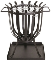 Redwood Steel Patio Brazier with Barbecue Grill