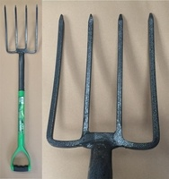 Green Blade Digging Fork with Steel Shaft
