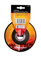 Blackspur 115 x 6mm Grinding Metal Disk - 1 PACK