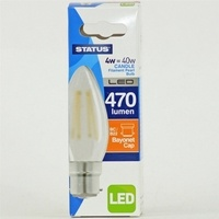 Status 4W Candle LED Pearl Filament Bulb
