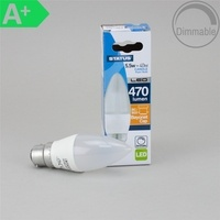 Status 5.5W BC Candle Pearl LED Bulb, Dimmable