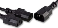 Pro-Elec 2M IEC C14 To Twin C13 Splitter Lead Cable