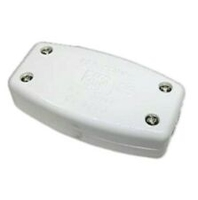 Pro-Elec 13A In-Line Connector Box, 3 Terminal-White